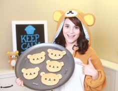 Rilakkuma Pancakes from Nerdy Nummies!