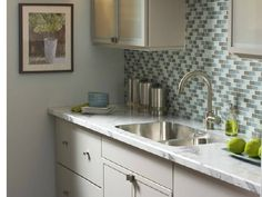 U201cCalacatta Marbleu201c Formica Counter Tops That Look Like Marble, With  Undermount Sink.