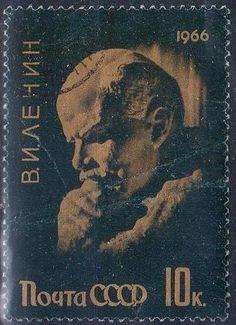Russia - Vladimir Lenin on a postage stamp, 1966.