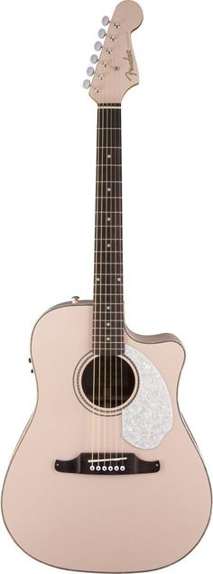 "Fender Sonoran SCE Cutaway for Sun-And-Fun Acoustic Action Fender's Sonoran SCE has been upgraded! There's a new three-ply pickguard, bone nut and saddle, and the vintage-style ""Viking"" bridge! This i"
