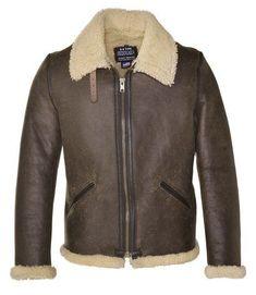 Schott NYC 2B6C Men's Shearling Leather Jacket