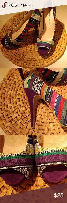 "Chinese laundry heels Multicolor upper, 5"" purple suede heel Chinese Laundry Shoes Heels"