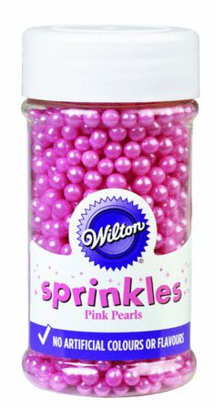 Wiltonin luonnonmukainen sokerihelmi, pinkki - 4,2e (myös muun merkkiset käy!)
