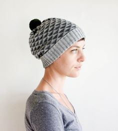 Triangle Wool Pom Pom Beanie Hat | Women's Bags & Accessories | Sourpuss Knits | Scoutmob Shoppe | Product Detail