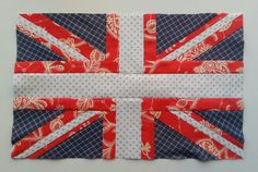 Quilt Story: Union Jack Attack, Memory Quilt for Dad