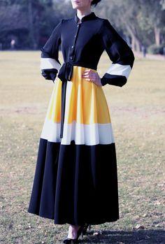 Marguerite Abaya robe-noir par LanaLik sur Etsy