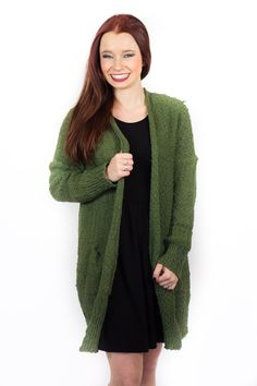 Cozy, Comfy, and Fireside Ready- Olive Sweater