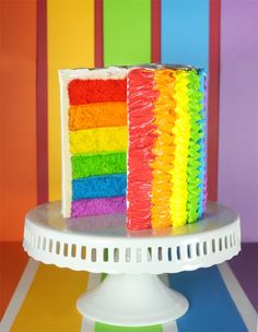 I made a rainbow cake! It's awesome! And here's a tutorial with some tips so you can make yours awesome too!!