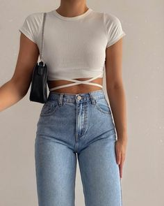 Teen Fashion Outfits, Retro Outfits, Cute Casual Outfits, Simple Outfits, Look Fashion, Stylish Outfits, 90s Fashion, Summer Outfits, Korean Fashion