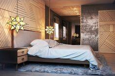 Спальня в стиле индастриал (industrial)
