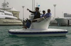 Forget Speed Boats, Ride Through Water On a Sofa Boat