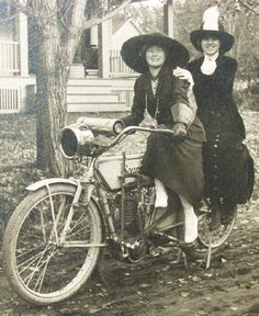 vintage women on motorcycles images | pc_ny_celoron_women_on_motorcycle_97542