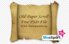 Old Paper Scroll - Free PSD File With Transparent bg Lots of free PNG images!
