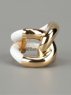 Balenciaga Leather And Gold Ring