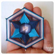 Eye Mandala, God's Eye Craft, Woolen Craft, Gods Eye, Mandala Painting, Crochet Mandala, Weaving Art, Macrame Patterns, Yarn Projects