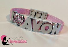 Avon Representatives can advertise anywhere with a personalized bracelet from Charmsations.