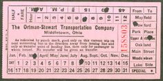 Bus transfer from Ortman-Stewart Transportation Company (Middletown, Ohio) (date unknown)