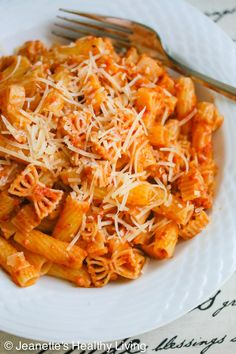 Pasta with Oven Dried Tomato Pesto © Jeanette's Healthy Living