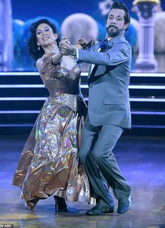 Wonderful waltz:AJ McLean, 42, and pro Cheryl Burke, 36, scored the same 24 for their waltz to Open Arms by Journey Cheryl Burke, Jesse Metcalfe, Open Arms, Backstreet Boys, Dancing With The Stars, Crushes, Dance, Dancing