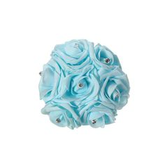 7 Heads Bride Bouquet Colourfast Foam Roses Crystal Artificial Flower... ($7.41) ❤ liked on Polyvore featuring home, home decor, floral decor, blue, silk flower bouquets, rose bouquet, blue bouquet, artificial flowers and silk flowers