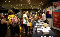 #Kids made bug jars, measured insects, and guessed how many bugs were in the big jar at #Catseye booth during the 2012 Back to School Expo.