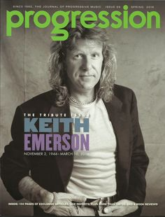 Keith Emerson Progression Magazine Spring 2016