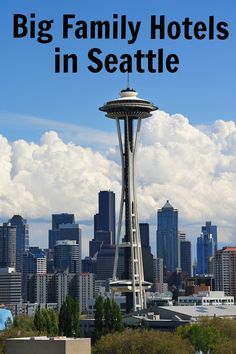 Seattle big family friendly hotels to sleep 5, 6, 7, 8 in 1 room. Click now to find your hotel or pin to your Seattle vacation board.