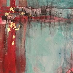 "Mixed Media Artists International: Mixed Media Abstract Art Painting ""Fragments"" by California Artist B. Marks"
