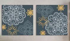 Jg.Telas Floral Azul 70x70