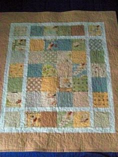 baby quilt from charm pack