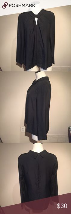 Black brooks brothers key hole blouse Excellent used condition Black silk brooks brothers key hole long sleeve blouse. Size 10. Super chic, stylish and on trend for fall. Armpit to armpit is 19.25 inches. Length from shoulder is approximately 25 inches. Brooks Brothers Tops Blouses