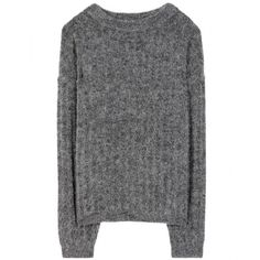 Acne Studios Dramatic Mohair and Wool-Blend Sweater (555 PEN) ❤ liked on Polyvore featuring tops, sweaters, grey, grey sweater, acne studios, gray top, gray sweater and wool blend sweaters
