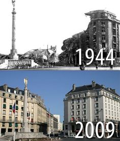 Normandy (France) before and after