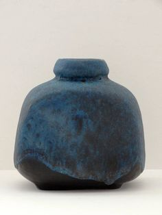 Ruscha Mid Century Black & Blue Fat Lava West German