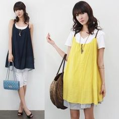 Cute for spring--Layered-Hem A-Line Sleeveless Dress