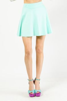Everyday Solid Skater Skirt by G-Stage