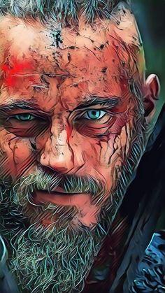 Ragnar lothbrok, un Roi Viking légendai. Art Viking, Viking Life, Viking Warrior, Ragnar Lothbrok Vikings, Lagertha, Vikings Travis Fimmel, Vikings Show, Vikings Tv Series, Arte Banksy