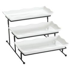 3-Tiered Platter with Stand...can't throw a party without this.