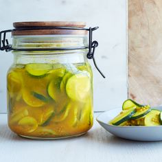 This recipe for super-easy, sweet and tangy pickles features turmeric in the simple brine.