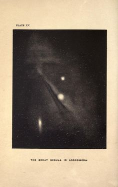 The story of the heavens. Great nebula in Andromeda.