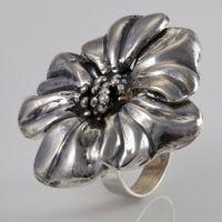 ArtLeah Jewerly Shop - Silver flower ring