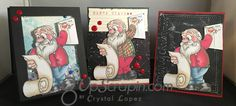 Hello Scrappy Peeps , hope your day is going great , I am just back from a trip to SC and just trying to get the chores done around here and work on scrappy orders.Yesterday was my monthly card sw… Christmas Clipart, Santa, Clip Art, Stamp, Invitations, Crystals, Nice, Cards, Handmade