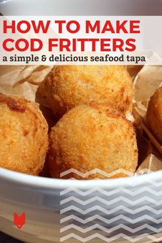 Our favorite recipe at the moment: these cod fritters! They're such a popular tapa in Barcelona and a great way to enjoy top quality seafood on a budget. Plus, they're easy to whip up at home! Get the recipe and our top tips for making them in this guide. Spanish Cuisine, Spanish Food, Cod Fritters Recipe, Foodie Travel, Street Food, Tapas, Seafood, Vegetarian Recipes, Budget