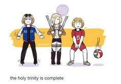 Kenma x Yurio x Armin (Haikyuu;Yuri on Ice;Attack On Titan) ❤