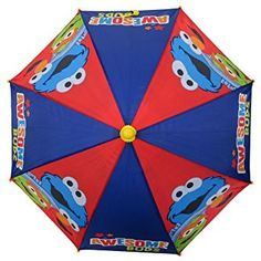 Sesame Street Awesome Buds Boys Umbrella – 3D Handle
