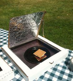 horno solar, ¡con una caja de pizza!