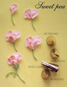 How to: Sweet Pea Frosting flowers Cake decorating tutorials