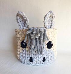 Crochet basket Horse