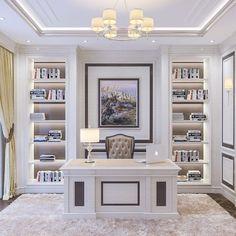 Office Furniture Design, Office Interior Design, Office Interiors, Home Office Layouts, Home Office Decor, Home Library Design, House Design, Interior Design Minimalist, Cool Office Space