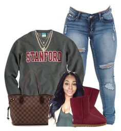 """""""Untitled #433"""" by princess-miyah ❤ liked on Polyvore featuring Louis Vuitton, UGG Australia and Ettika"""
